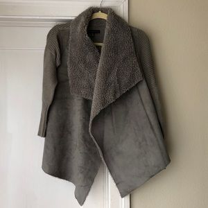 Saks Fifth Ave Drape front waterfall Sweater coat